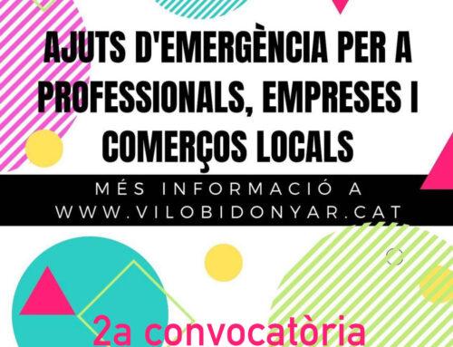 Segona convocatòria dels ajuts d'emergència per a professionals, empreses i comerços locals