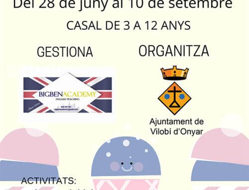 Inscripcions obertes per al Casal Municipal d'Estiu per als nens i nenes de 3 a 12 anys